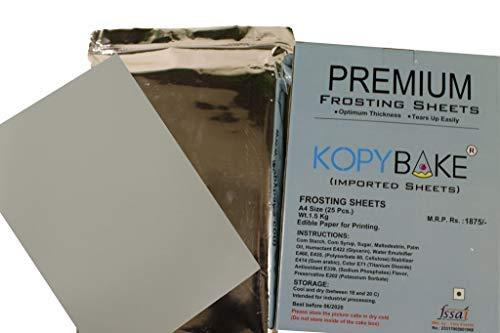KOPYBAKE A4 Size Icing Sugar Sheet for Edible Photo Cake Printer (25 Piece)