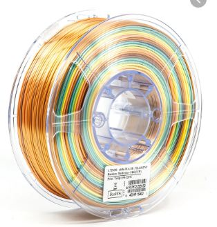 eSun Silk-PLA filament Rainbow Multicolor