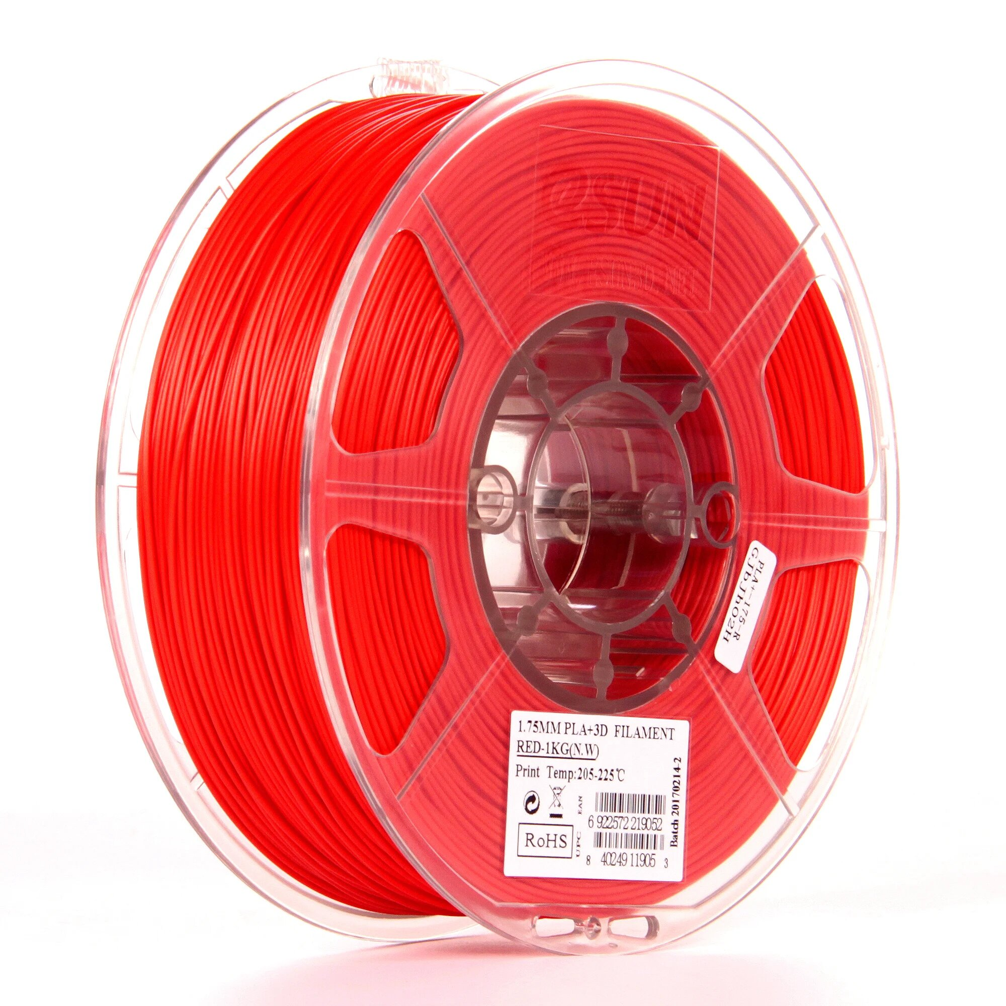 eSun TPU-95A filament Transparent Red