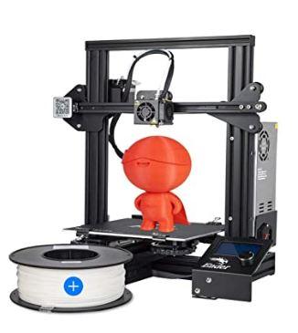 Creality Ender 3 3D Printer + 1Kg PLA White Filament - 1.75mm (Combo Set)