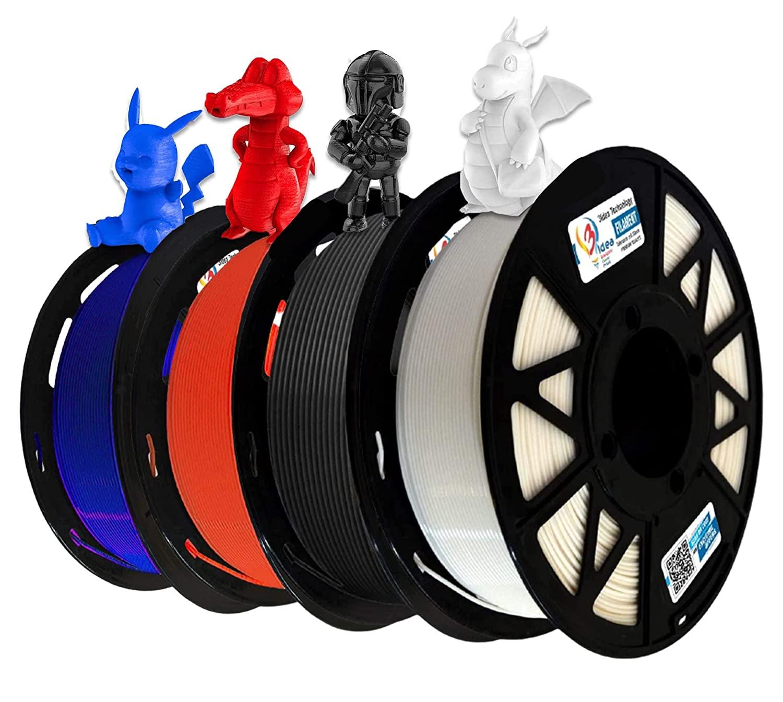 3Idea Filament Bundle (Black, White, Red, Blue)