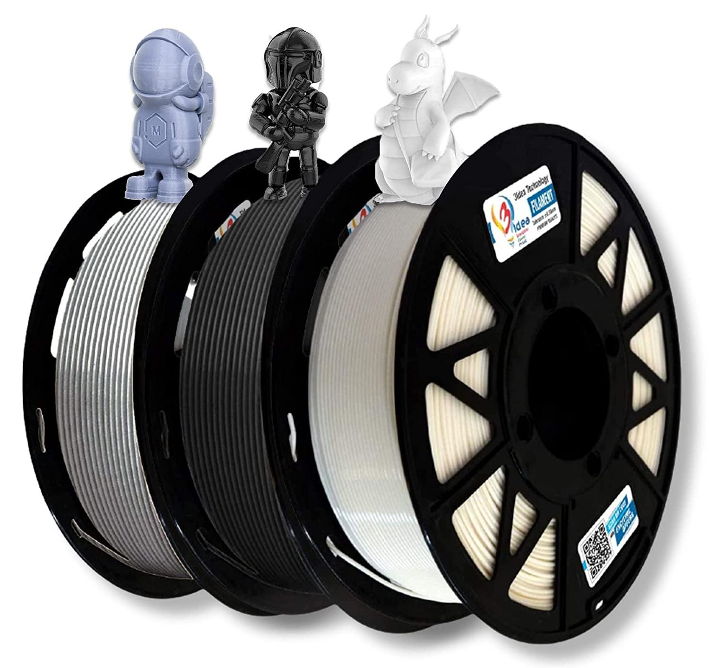 3Idea Filament Bundle (Black, White, Grey)