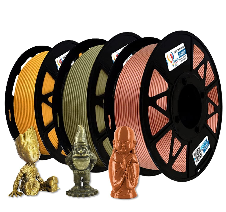 3Idea Filament Bundle (Brass, Gold, Metalic Copper)